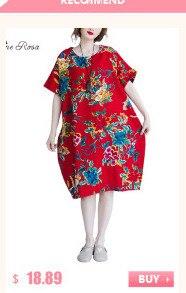 BelineRosa 2017 Big Sizes Women Clothing Bohemian Style Chinese Style Floral Printing Cotton Linen Dress 4XL 5XL HS000264 4