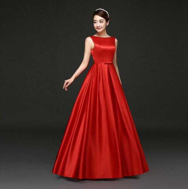 5fd42271d 2017 رخيصة الأرجواني أحمر أنيق طويل جميلة فساتين وصيفات الشرف اللباس الكرة  ثوب الحرير تحت 50