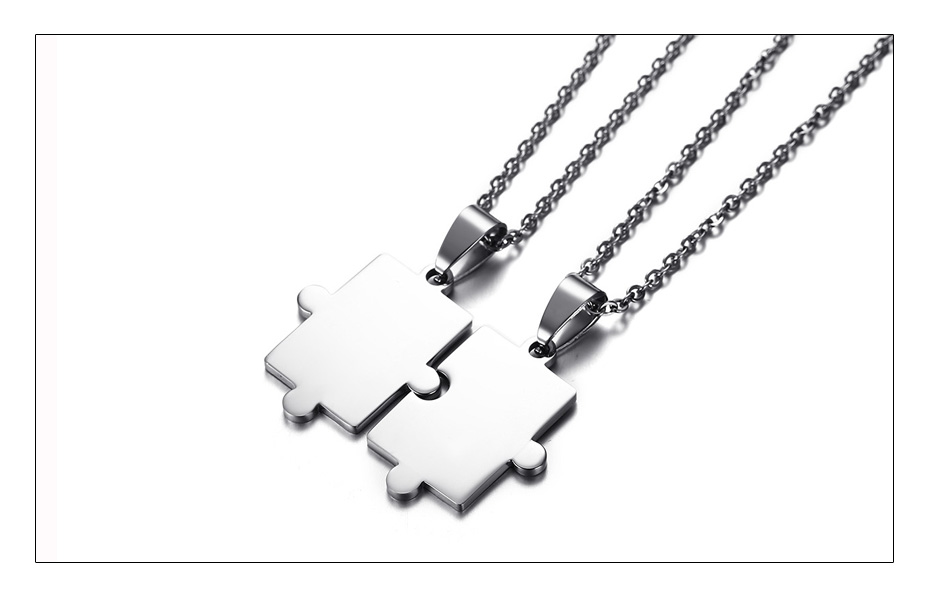 Meaeguet Free Engraving Puzzle Necklace For Best Friends Men Women Couple Stainless Steel Personalized Pendant Necklace Set (4)