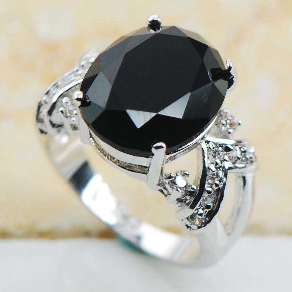 black onyx 925 sterling silver top quality fancy jewelry wedding ring size 6 7 8 9 - Onyx Wedding Ring