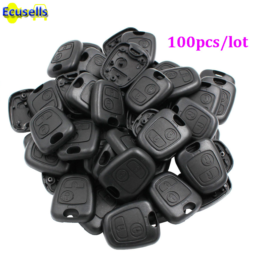 100pcs lot for Peugeot 206 307 207 for Citroen C2 half remote key case shell cover