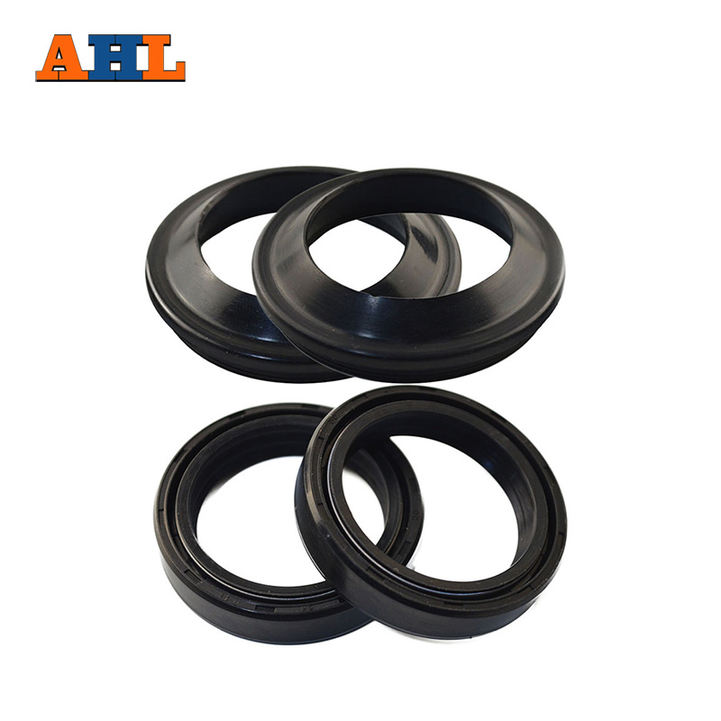 AHL Motorcycle Front Fork Damper 35x48x11 Oil Seal & Dust Seal For Honda CB450 CB750 CB550 CL450 honda 51490 mn8 305 seal set fr fork