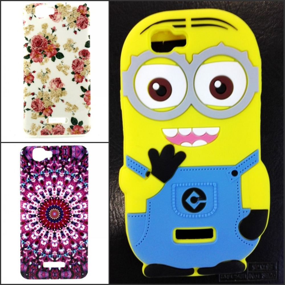 Cute Cartoon 3D Minions Despicable Soft TPU Silicon Back Cover Case Wiko Rainbow - Made In China Centre store