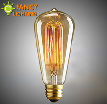 Retro lamp st64 vintage edison bulb e27 incandescent bulb 110v 220v holiday lights 40w 60w filament lamp lampada for home decor(China)