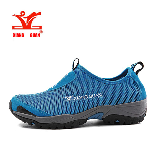 ФОТО XiangGuan high quality Hiking shoes mesh surface Outdoor men and women shoes Breathable light antiskid size 36-44 X3409