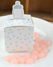 12 Pieces  Creative Candy Box Baby Shower Full Moon Gift Wedding