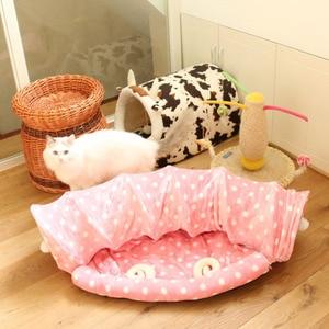 Image 4 - חתול Play צעצוע מנהרת מצחיק חיות מחמד מנהרת מתקפל בתפזורת קטן לחיות מחמד צעצועי ארנב חג המולד חיות מחמד מנהרת חתול מיטות בית שינה עם כדור