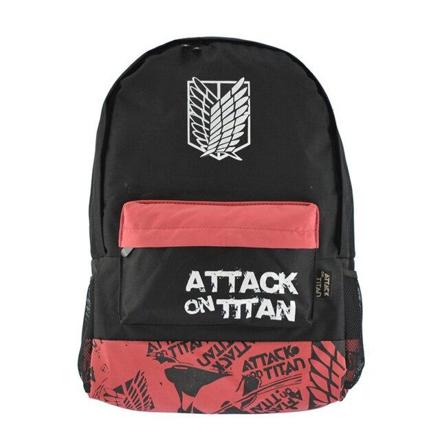 Moda de dibujos animados caliente-vendiendo adolescente bolso de escuela del estudiante ataque animado en titan mochila