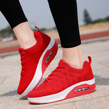 New breathable casual female sneakers shoes increased wedge with cushions rocking