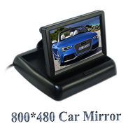 4 3 Inch TFT LCD 960 X 240 Car Rearview Reverse Monitor For Parking With 2