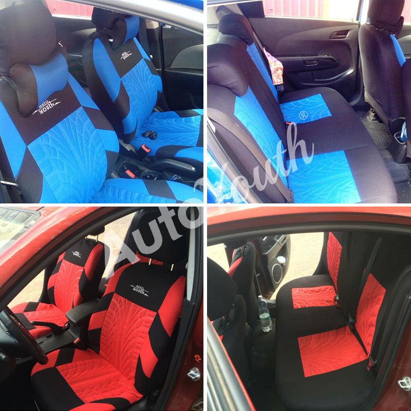 Image 5 - AUTOYOUTH Brand Embroidery Car Seat Covers Set Universal Fit Most Cars Covers with Tire Track Detail Styling Car Seat Protector-in Automobiles Seat Covers from Automobiles & Motorcycles