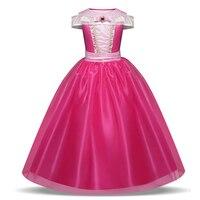 Baby Girl Princess Long Dress Christmas Costume For Kids Party Dress Beauty Aurora Dress Children Fancy