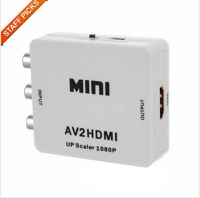 1080P RCA AV To HDMI Converter Adapter Mini Composite CVBS To HDMI AV2HDMI Converter