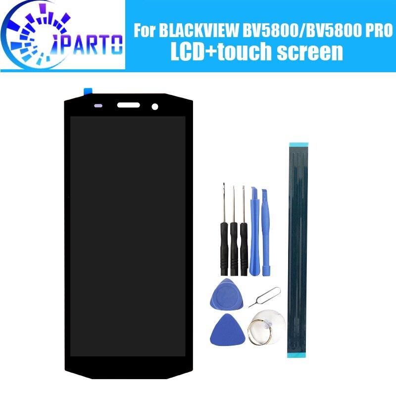 BLACKVIEW BV5800 LCD Display + Écran Tactile 100% Original Testé LCD Digitizer Verre de Remplacement Du Panneau Pour BLACKVIEW BV5800 PRO