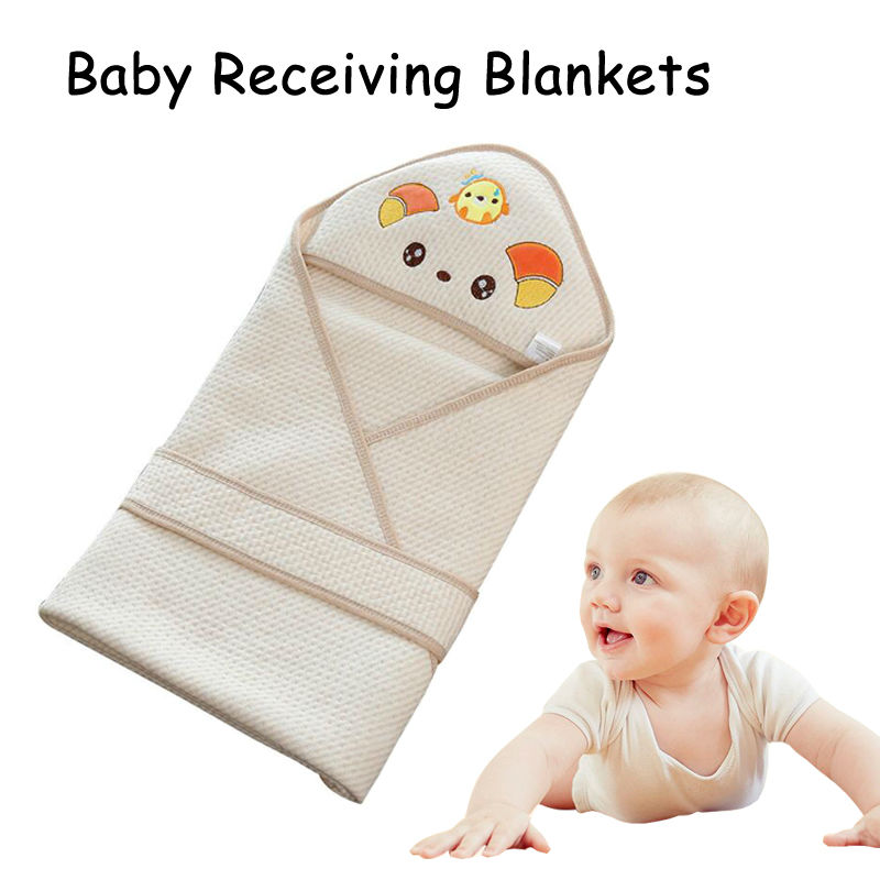 Newborns Baby Soft Oraganic Cotton Receiving Blanket 80x80cm Baby Sleep Bedding Blankets Kids Winter Clothing Receber Cobertores