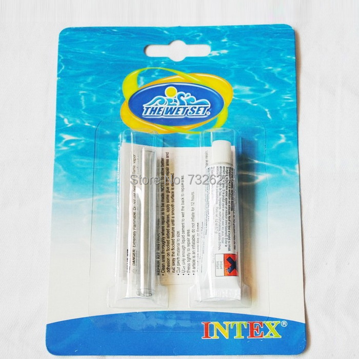 2pcs/lot Hot Sale New Vinyl Repair Patch Glue Kit Pool Airbed Inflatable Intex pool Sevylor