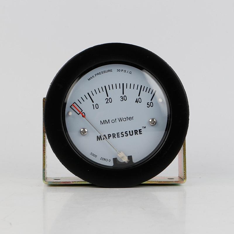 TE5000 0-50mm Mini Size Air Differential Pressure Gauge te5000 0 3kpa pressure gauge