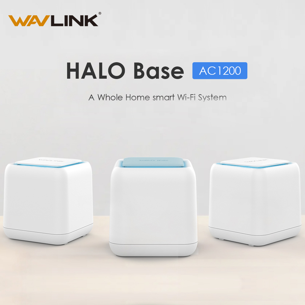 Wavlink Gigabit AC1200 Wireless Wifi Router Whole Home Mesh WiFi Gigabit System Smart Dual Band 2.4G/5G Touchlink WI-FI Repeater