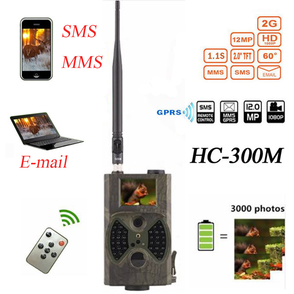 Outlife HC300M Trail Chasse Caméra Email MMS GSM Caméra Piège 12MP 1080 p Nuit Vision GPRS Infrarouge Caméra De Chasse Sauvage la faune