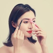 4Pcs/Set Drop Shipping Brow Stencils Reusable Eyebrow Shaping Defining Eye Drawing Guide Template Makeup Tool