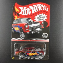 Hot Wheels Car CHEVY BEL AIR GASSERCollectors Edition 50th Anniversary Metal Diecast Cars Collection Kids Toys Vehicle For Gift