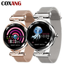 COXANG H1 Smart Watch For Women Fashion Luxury Ladies Clock Heart Rate Monitor Blood Pressure Smartwatch Andrioid IOS