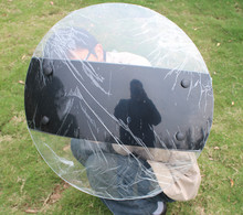 Protective portable handheld Round transparent Shield army PC Shield 500*500 MM circle Explosion proof riot Shield