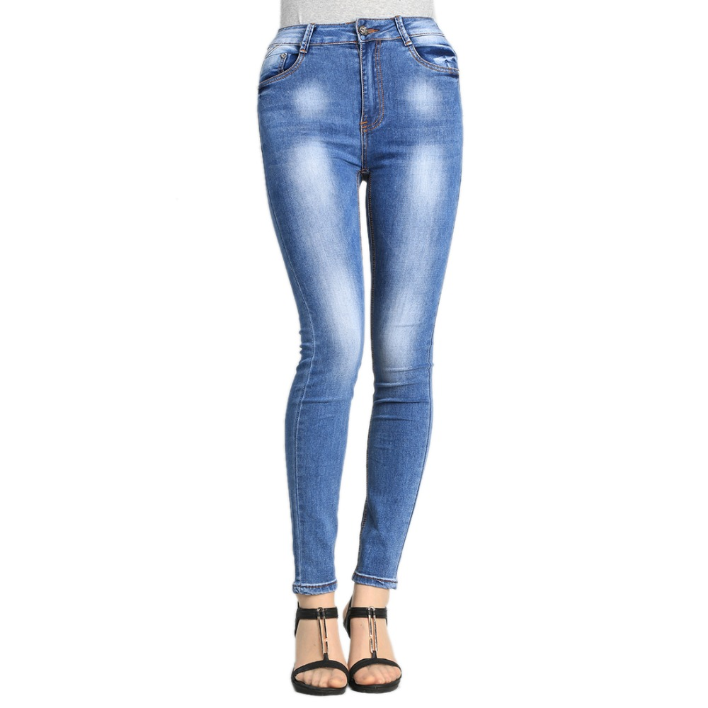 SheXiang Mrs 2016 High Waist Jeans High Elastic Plus Size Women Jeans Woman Femme Washed Casual Skinny Pencil Denim Pants W220