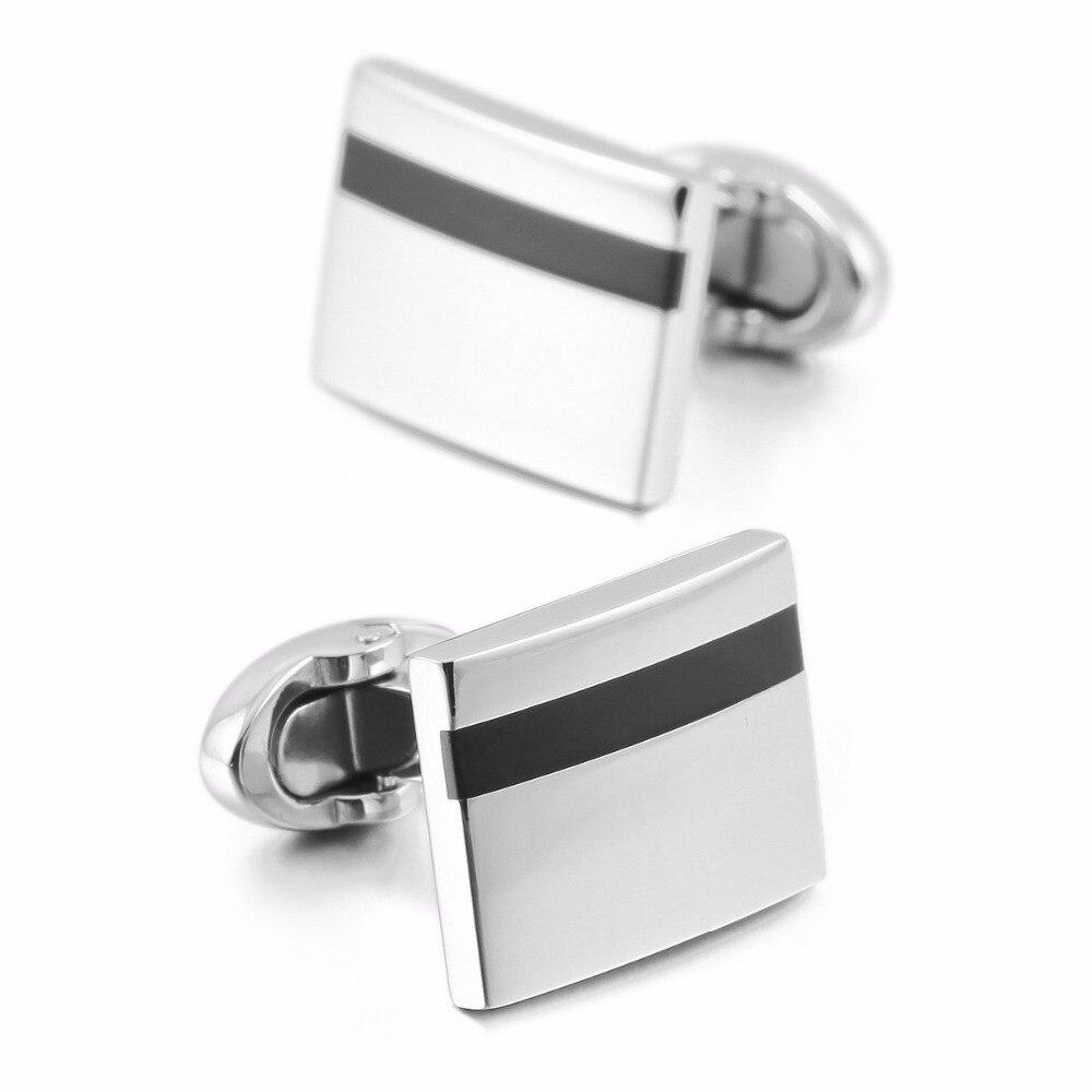 hot sales  Silver-Tonesale Stainless-Steel Enamel  Classic Cufflinks Wedding Business 1 Pair Set hot sales  Silver-Tonesale Stainless-Steel Enamel  Classic Cufflinks Wedding Business 1 Pair Set