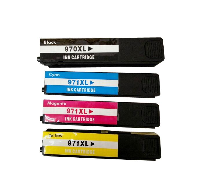 1 set ink Cartridges compatible ink cartridge For HP 970 971 XL for hp Officejet Pro X476dnMFP/X476dwMFP/X551dw/ X576dwMFP hot sales ink cartridge for hp officejet pro 7740 8210 8216 8218 8710 compatible cartridge with bk c m y original cartridge