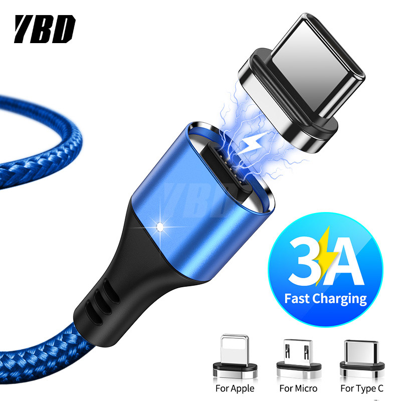 YBD Magnetic Charger Micro USB Cable For Samsung IPhone / USB Cable USB Type C Charging Magnetic/ Charger Wire For Huawei Xiaomi