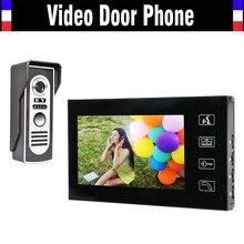 7″ LCD Monitor Video Door Phone Intercom Doorbell System Kit Home Security intercom IR Door Camera Video Doorphone