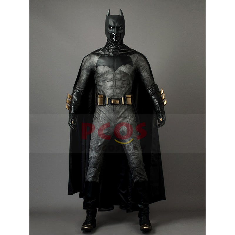 Justice League Film Batman Bruce Wayne Cosplay Costume & Mask & Boots mp003715