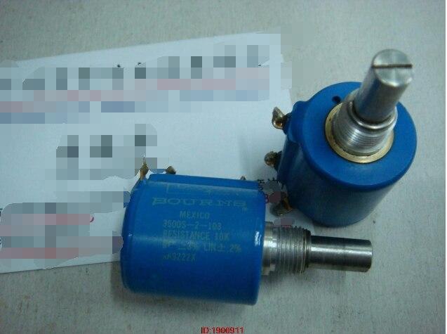 1pcs/lot Used BOURNS3500S-2-103 10K 10 turns multi-turn potentiometer1pcs/lot Used BOURNS3500S-2-103 10K 10 turns multi-turn potentiometer