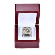Caja de madera con 2016 Pittsburgh Penguins Stanley Cup Championship ring Size 6-14 para Quitar envío de negocios