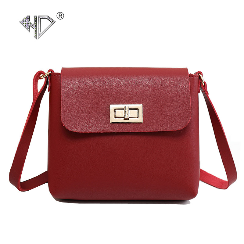 HD Brand Female Crossbody Bags for Women Bag Casual Small Purse Handbag Shoulder Bag Messenger Flap Long Strap Sac A Main Femme