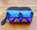 3-layer Wristlet bag vintage Hmong Thai Indian embroidered bag Fashionable clutch purse Boho Hippie Ethnic cosmetic bag SYS-438D