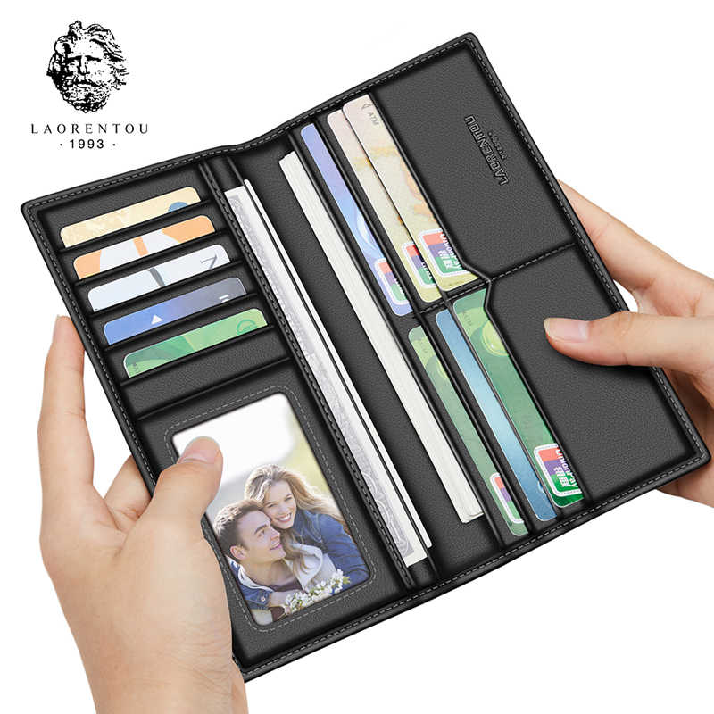 Laorentou клатч кошельки длинный стильный кошелек мужской кошелек мягкая кожа с отделением для карт для деловых мужчин кожаный кошелек-клатч Сумки