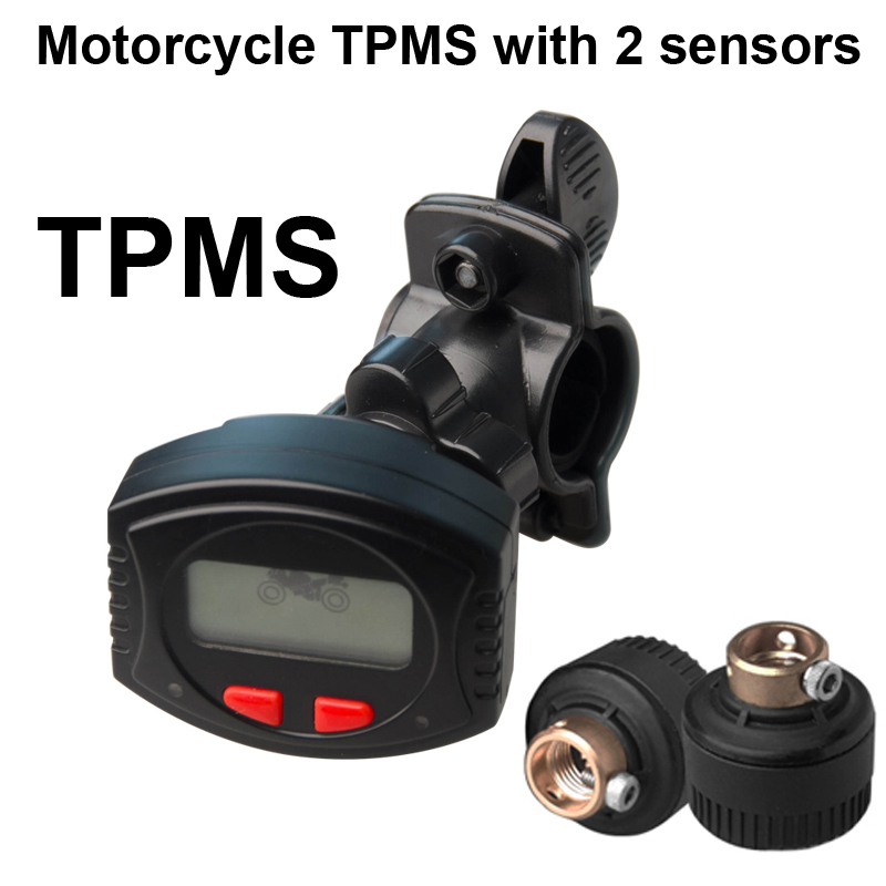 Motorcycle TPMS suitable for the 2 wheels, waterproof chargable LCD bracket PSI/BAR tyre pressure monitoring system