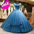 Gorgeous Fuera del Hombro Del vestido de Bola Vestidos de Quinceañera Con Falda de Tul Hinchada Vestidos De Cenicienta 2017 Bienes vestidos de 15 anos