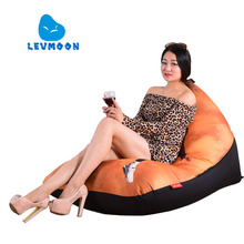 LEVMOON Beanbag Sofa Basketball Star Seat Zac Comfort Bean Bag Bed Cover Without Filling Cotton Indoor Beanbags Lounge Chair
