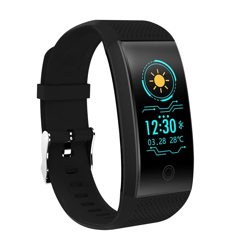 FROMPRO 18 Color pantalla pulsera inteligente Monitor de ritmo cardíaco IP68 impermeable rastreador de Fitness banda Bluetooth 4,0 deportes pulseras