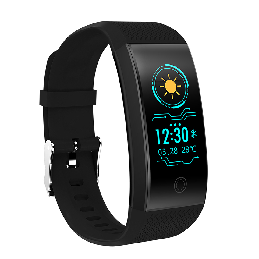 QW18 Farbe Bildschirm Smart Armband Herz Rate Monitor IP68 Wasserdichte Fitness Tracker Band Bluetooth 4,0 Sport Armbänder PK Y5