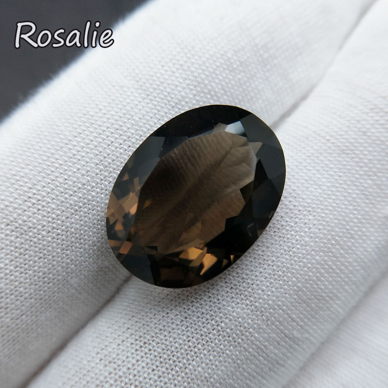 Rosalie,BIG 16CT UP Natural loose gemstone smoky quart oval cut 15*20mm good color real gemstone for DIY silver jewelry mouting rosalie natural loose gemstone brazil real sky blue topaz oval 6 8mm 3 pc 4 5ct in one lot gemstone for silver jewelry mounting
