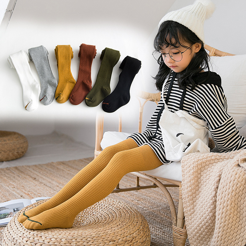 SLKMSWMDJ autumn winter new children 39 s pantyhose baby leggings cotton girls dance leggings suitable for 1 7 years old 6 colors in Tights amp Stockings from Mother amp Kids