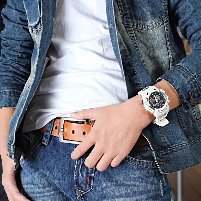 2017 white Color Fashion Digital Mens Watch S Shock G Style Analog Male Wristwatch EPOZZ Waterproof Dive Relogio Masculino E3001 1