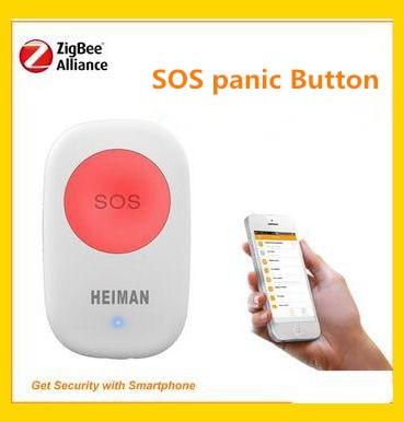 Big discount Zigbee 868Mhz Wirelesss SOS panic button Home alarm system remote control Zigbee key ring panic switch