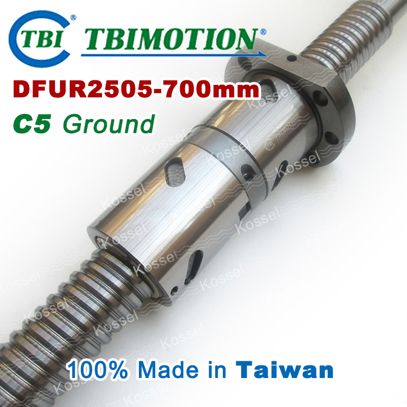 TBI 2505 C5 700mm ballscrews with DFU2505 ball nut + end machined for high precision CNC kit DFU set Custom high precision oem custom machined aluminum prototype