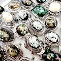 10 Unids Ajustable Naturaleza Shell Cameo Anillos para Las Mujeres Anillo de La Joyería de Moda Al Por Mayor lotes Envío Libre LR437