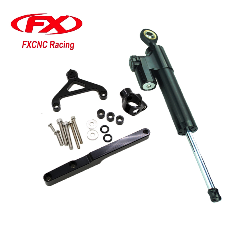 For HONDA CB1000R 2008-2012 Aluminum Motorcycle CNC Adjustable Steering Damper Stabilizer Mounting Bracket Support Kits  fxcnc aluminum steering damper stabilizer bracket mounting support kits fit for honda cbr600 f4i 1999 2004
